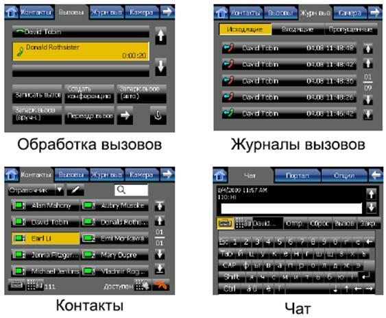 KX-NT400 - примеры экрана