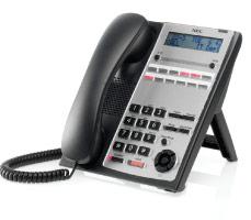 Цифровой телефон NEC 12 кнопок, черный